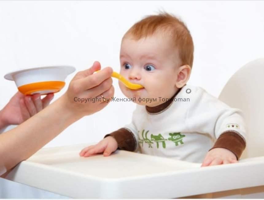 Прикорм для ребёнка в 5 месяцев