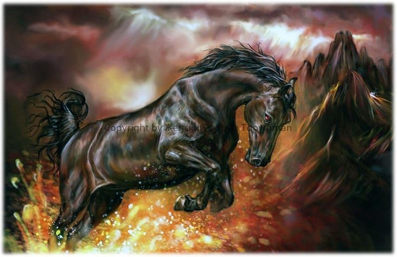 К чему приснилась лошадь коричневая атакующая