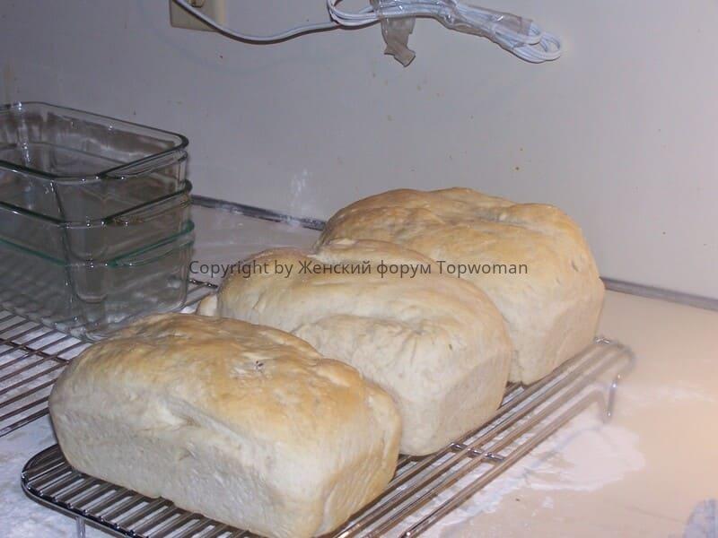 Белый хлеб дома в духовке