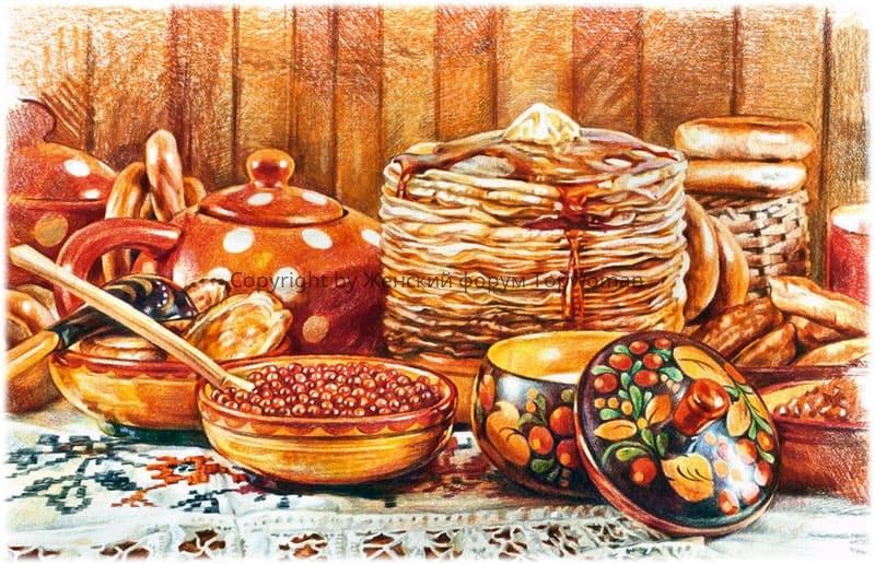 Русская кухня: блины