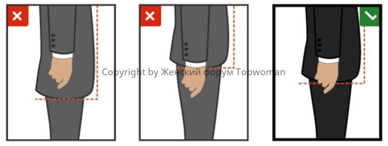 Какой длины должны быть рукава пиджака