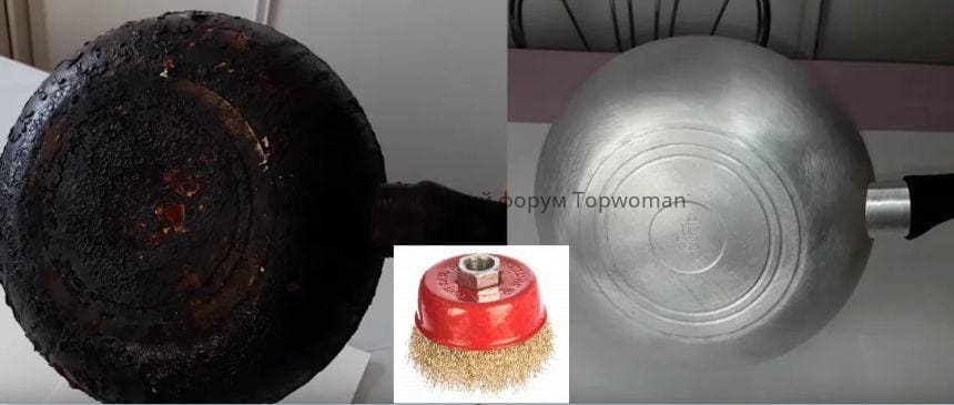Как почистить сковороду болгаркой