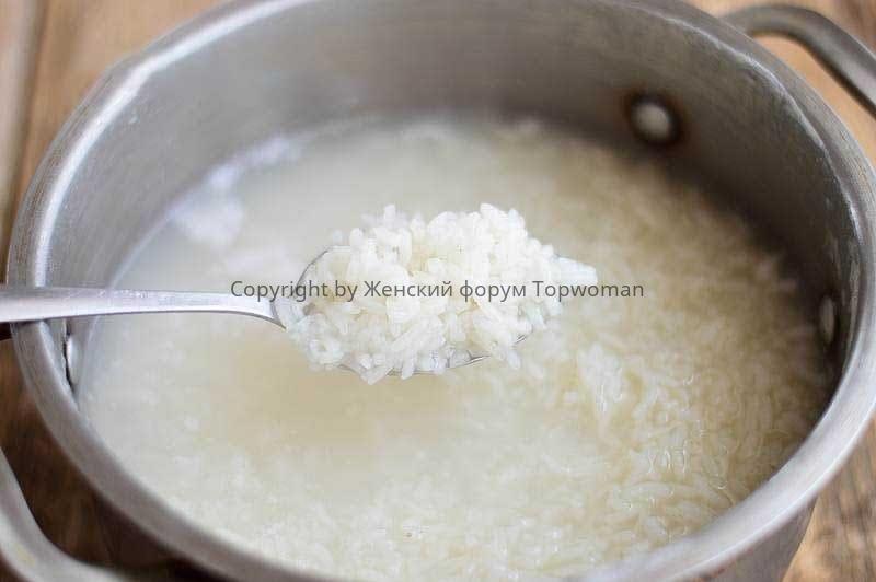 Как понять, что рис готов