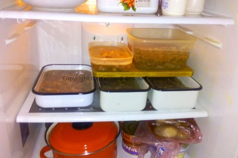 Как правильно хранить холодец в холодильнике
