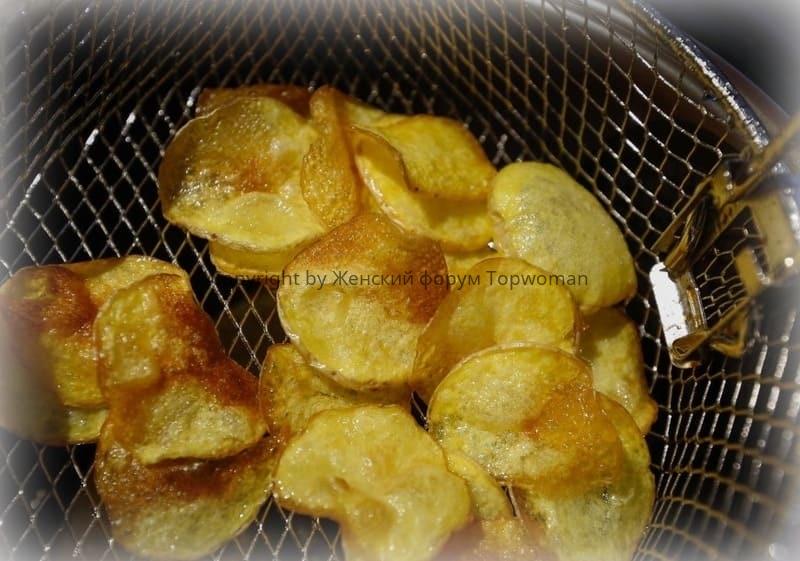 Картофельные чипсы во фритюре