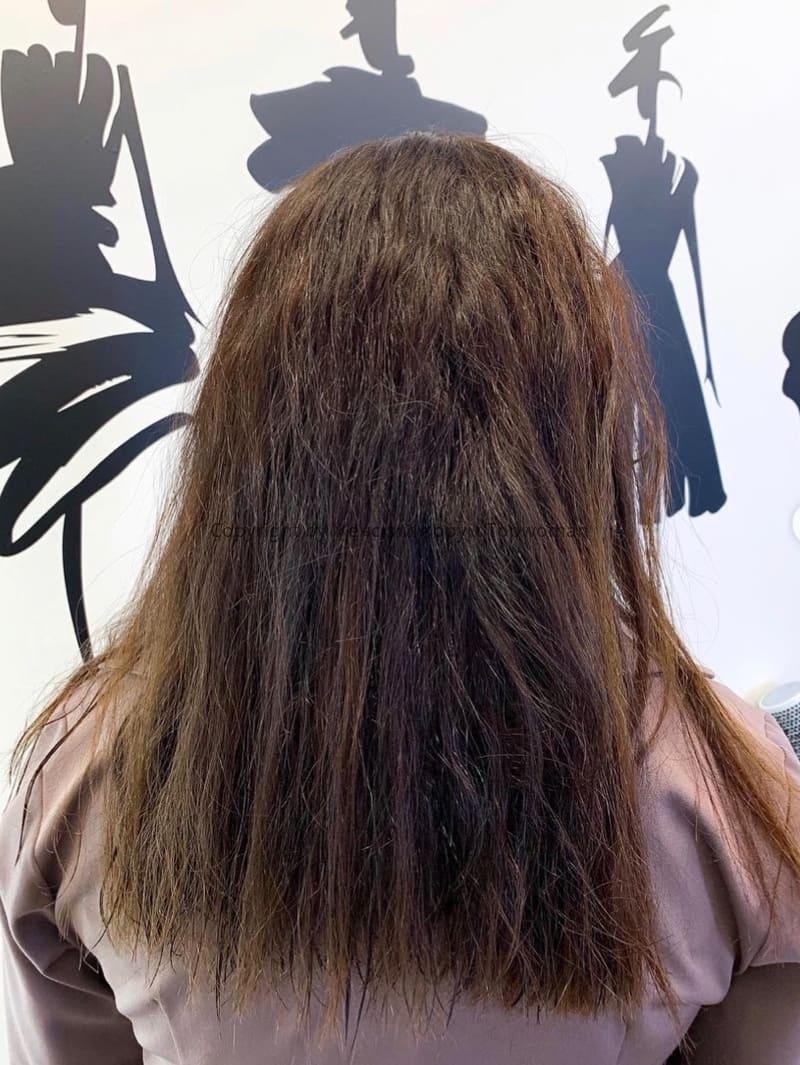 Фото до холодного восстановления волос