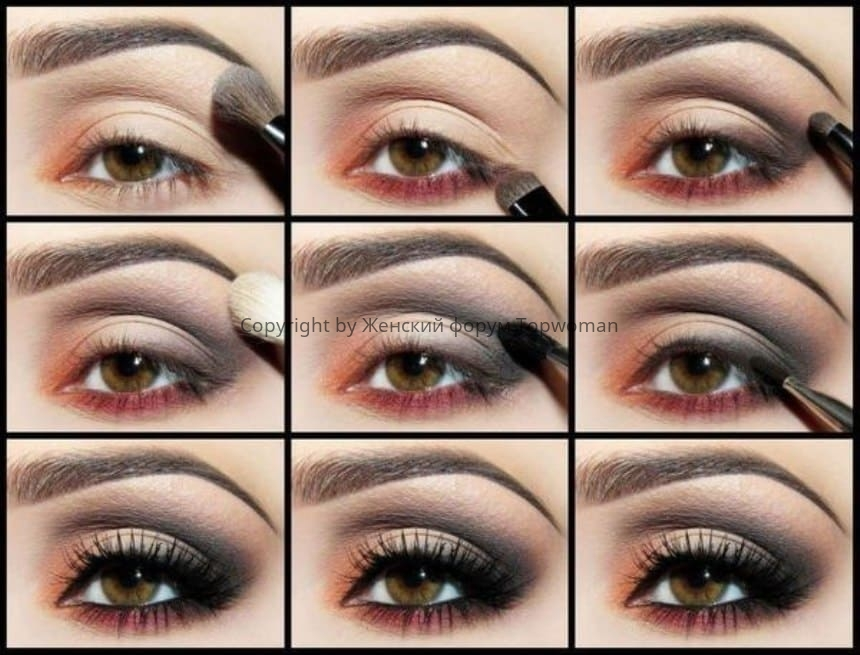 Схема классического макияжа