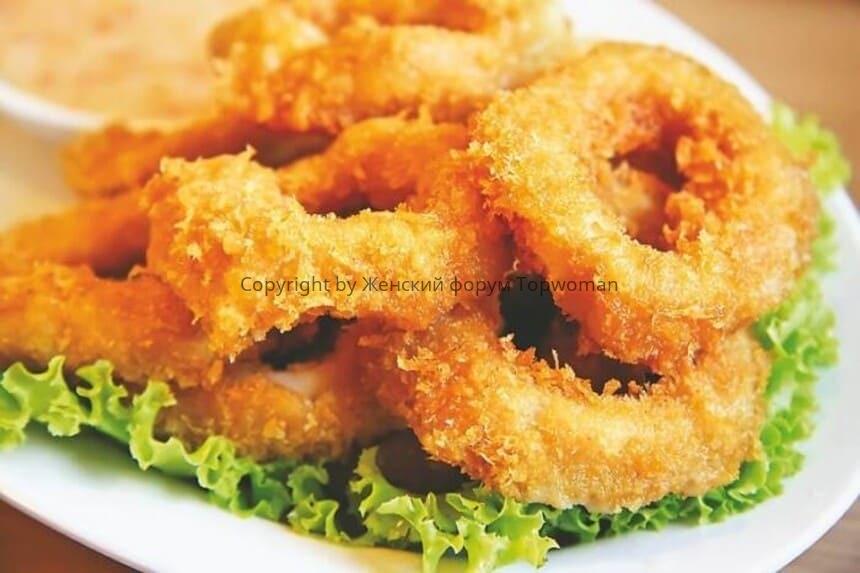 Замороженные кольца кальмара в кляре