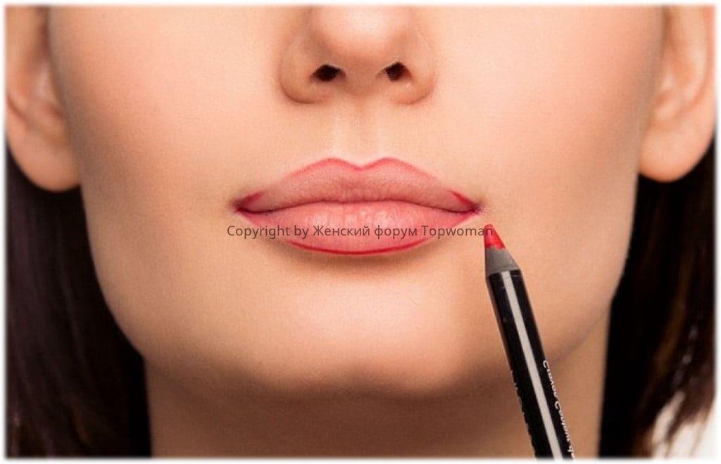 Увеличить губы: контуринг