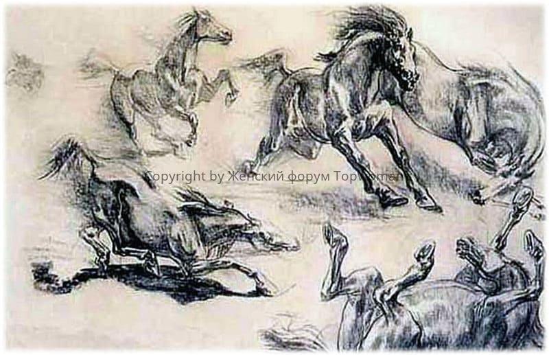 Массовый падеж лошадей