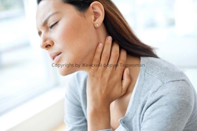 Мороженое при болях в горле