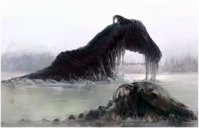 Увидели мёртвую лошадь в воде