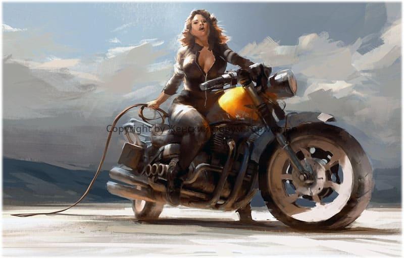 К чему снится кататься на мотоцикле за рулём женщине