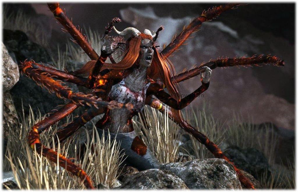 К чему снится красный паук женщине?