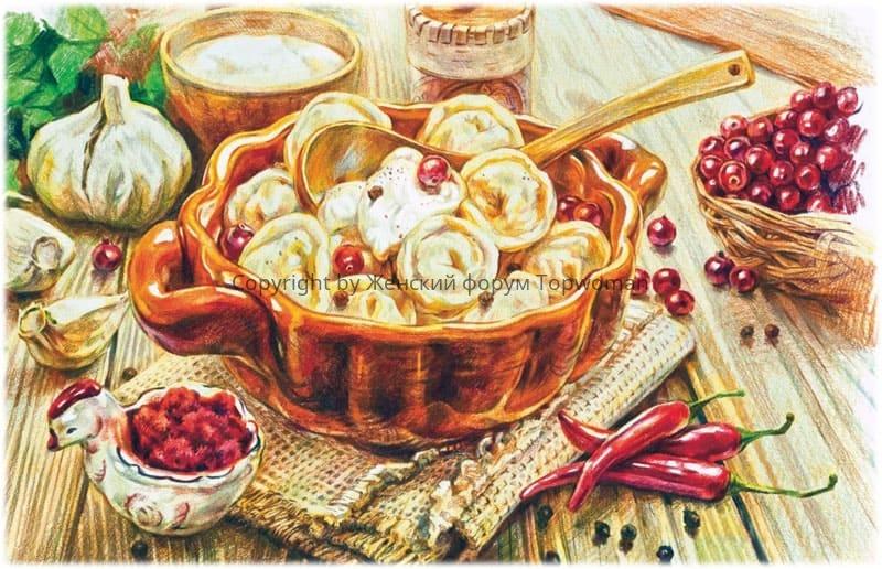Русская кухня: пельмени