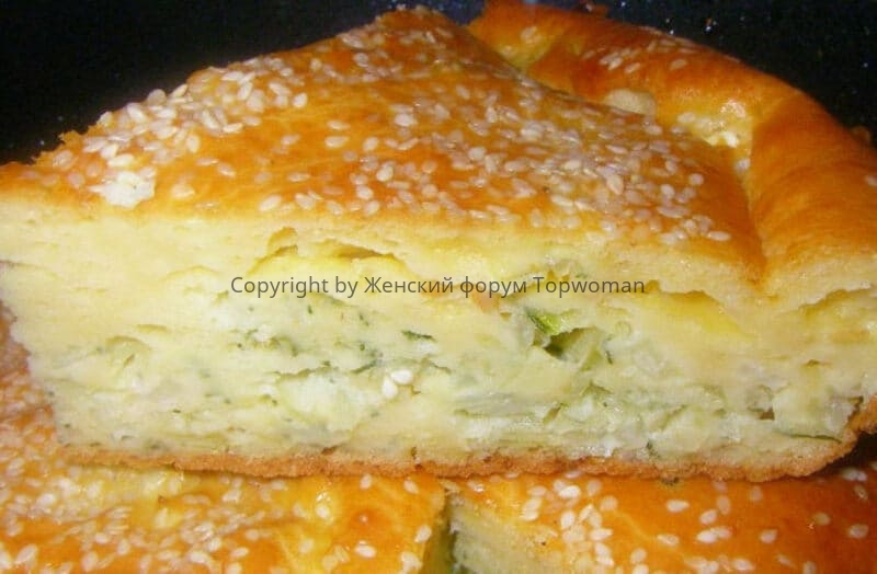 Пирог на сметане с капустой
