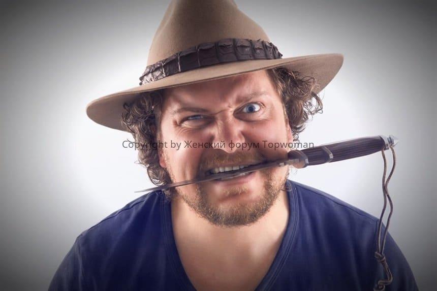 Почему нельзя есть с ножа мужчине