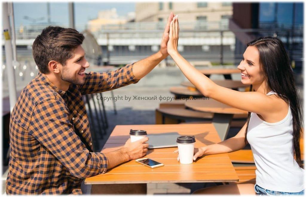 Посиделки в кафе — это любовь между мужчиной и женщиной