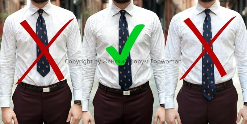 Правильная длина галстука по этикету