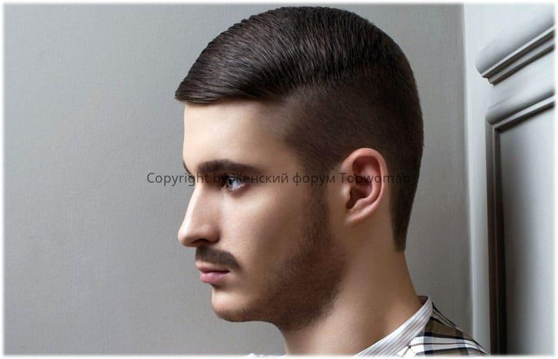 Мужские причёски с зачёсом на бок без чёлки