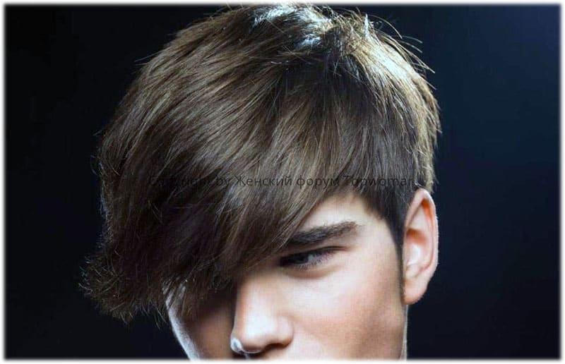 Мужские причёски с зачёсом на бок с чёлкой
