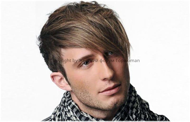 Волосы средней длины с чёлкой
