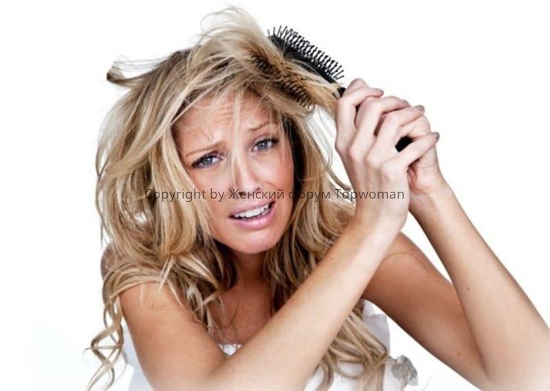 Волосы невозможно расчесать