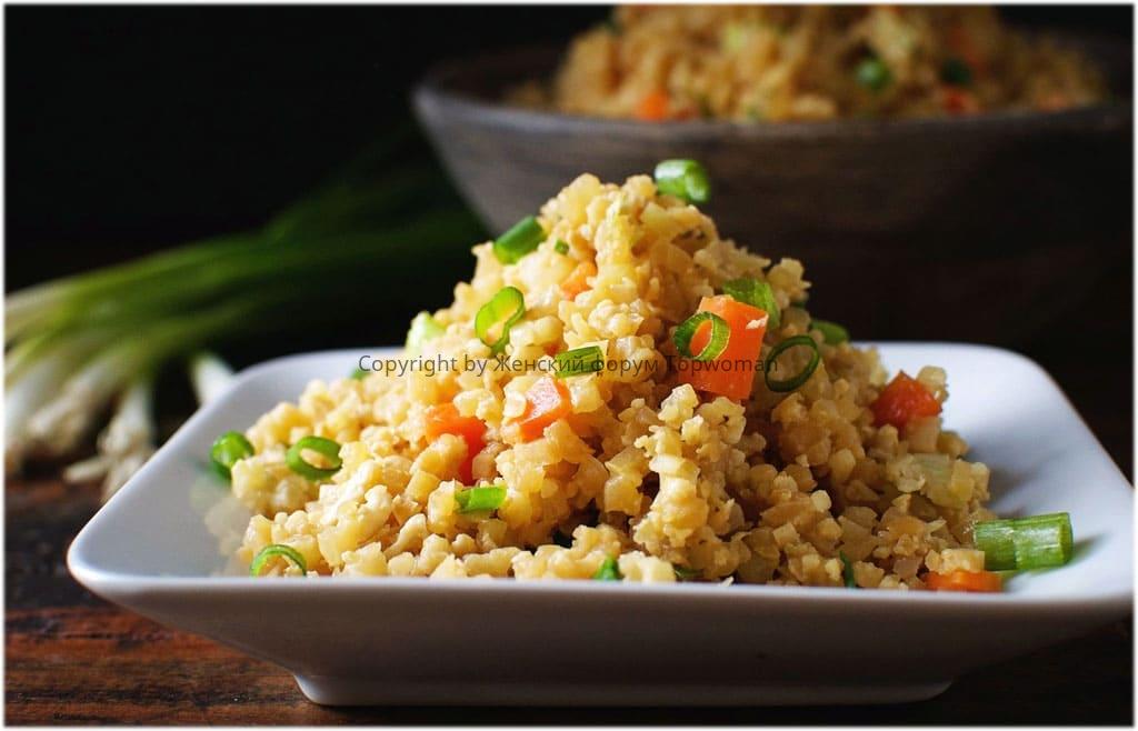 Жареный рис с добавками