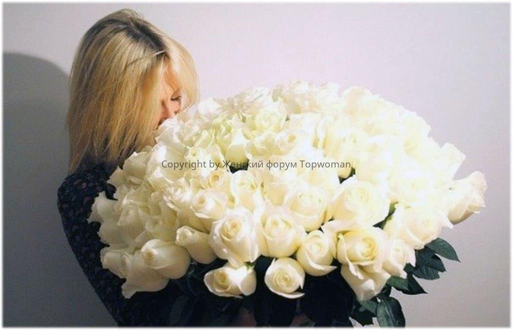 Можно ли дарить белые розы девушке