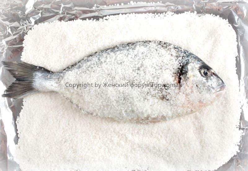 Разморозка рыбы солью