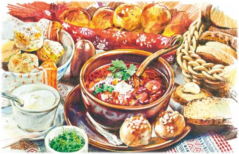 Русская кухня: щи