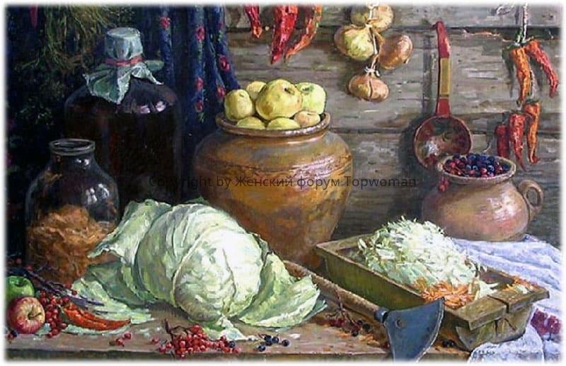 Русская кухня: соленья