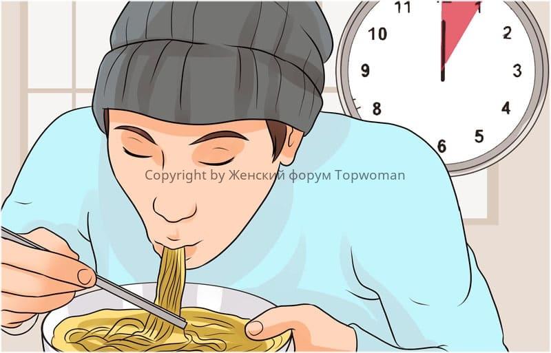 Ни в коем случае не пытаться всосать спагетти