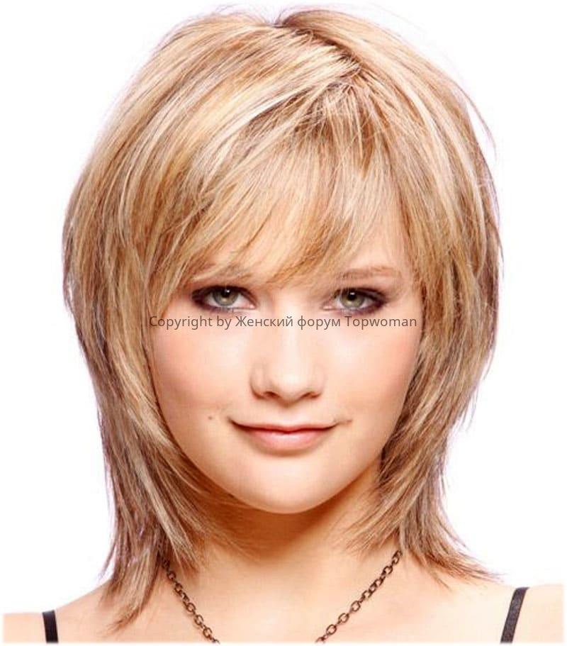 Вариант стрижки «Аврора» на средние волосы