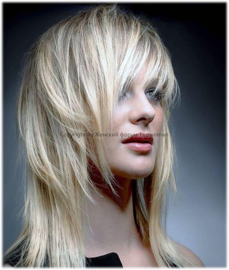 Стрижка «Аврора» на средние волосы
