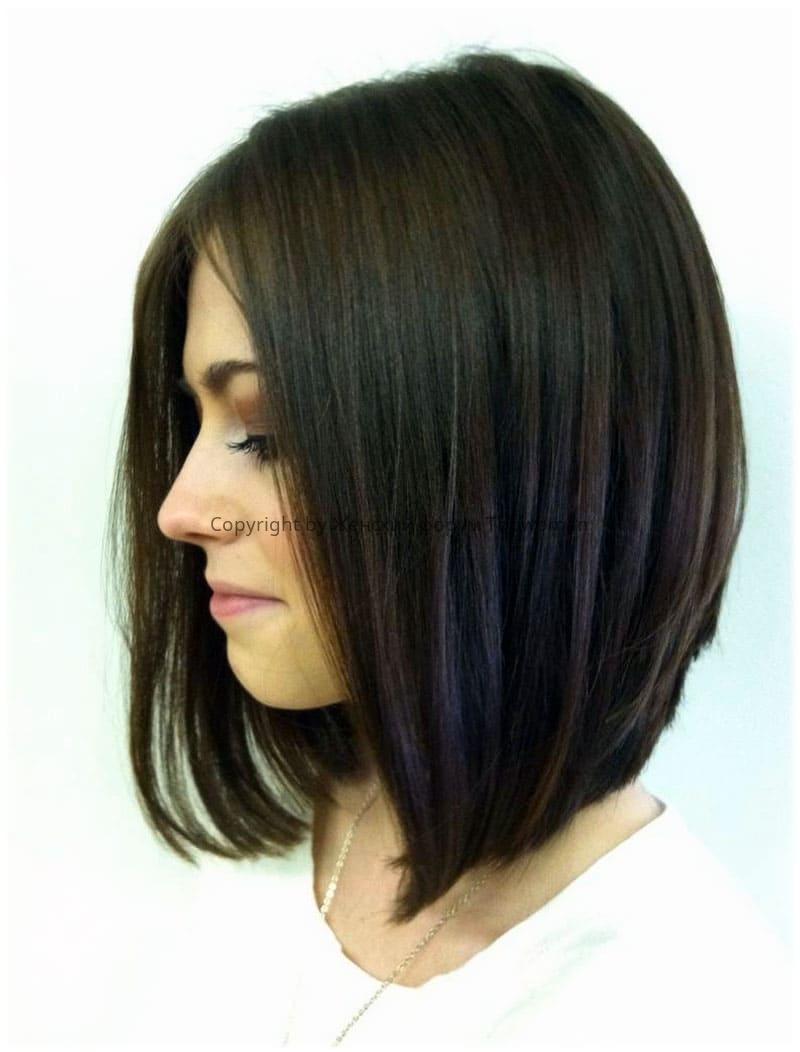 Пример стрижки «Боб» на средние волосы