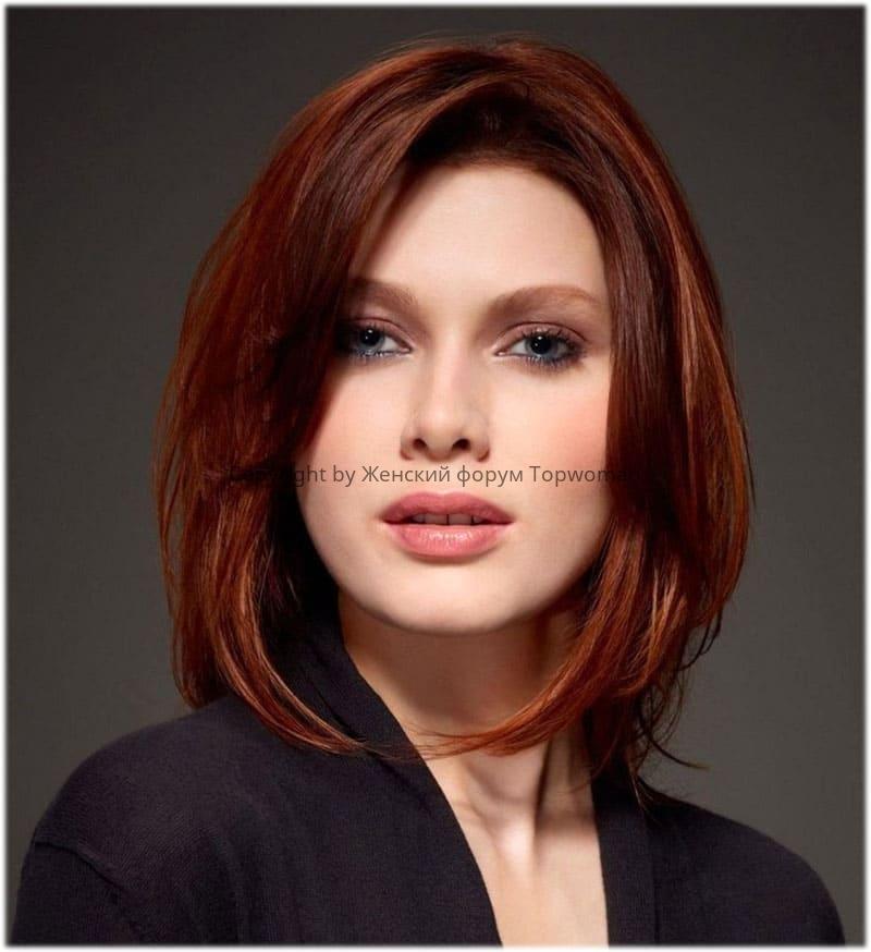 Пример стрижки «Каре» на средние волосы