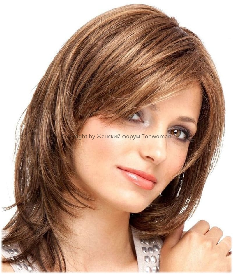 Стрижка «Каскад» на средние волосы