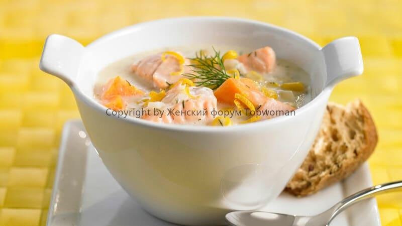Суп пюре из лосося