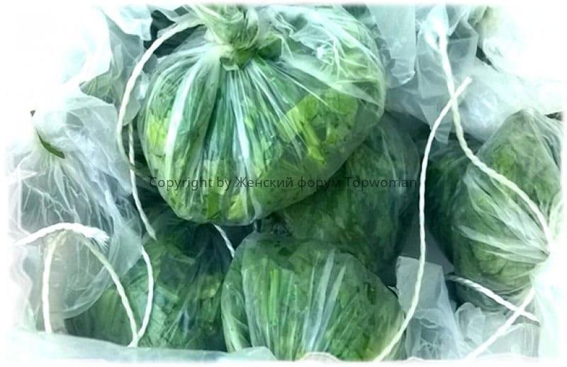 Сохранить зелень поможет вакуумная упаковка