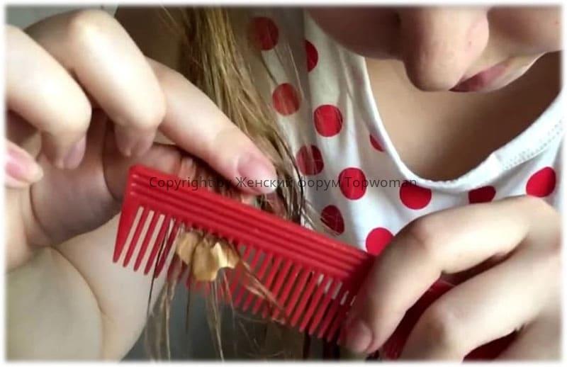Что делать, если жвачка в волосах