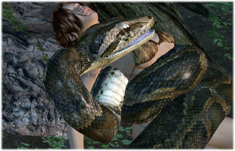 К чему снится большая змея женщине